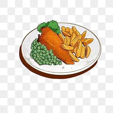 british fish and french fries characteristic food elements, Fast Food, Lemon, Frying PNG and PSD