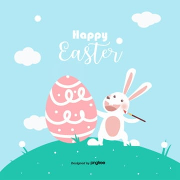 Cartoon cute Easter egg rabbit illustration, Rabbit, Card, Cartoon PNG and PSD
