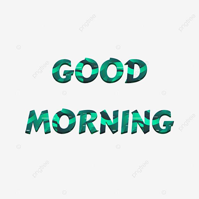 أخضر صباح الخير الخط خط نبذة مختصرة كلمة الفن تأثير النص Psdلتنزيل مجاني