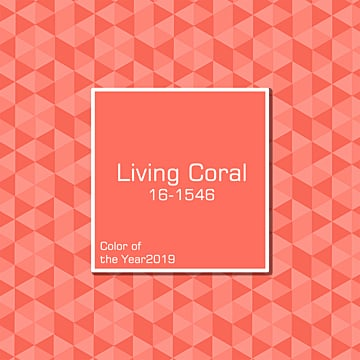 coral red card of 2019 living coral coral, 2019, Color Of The Year2019, Living Coral PNG and PSD