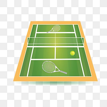 illustration of green tennis court, Illustration, Popular, Network PNG and PSD