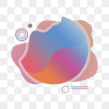 linear memphis fluid label, Banner Design, Memphis, Memphis Label Design PNG and PSD