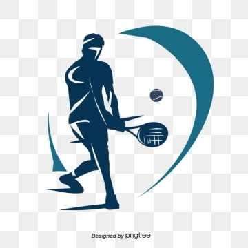 Silhouettes of Tennis Players, Silhouette, Illustration, Popular PNG and PSD
