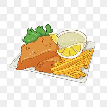 fish and chips  a delicious british food, Lemon, Fried Fish, Plate PNG and PSD