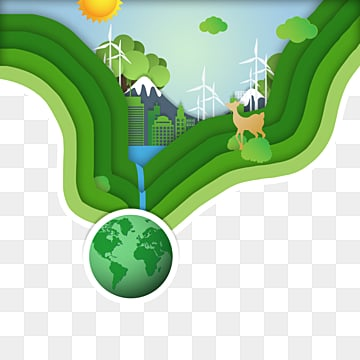 green earth day paper cut background, Flaky Clouds, , Paper-cut PNG and PSD