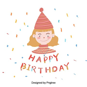 Orange Happy Birthday Cartoon Font, Girl, Typeface, Happy PNG and PSD