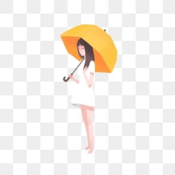 Mädchen Unter Schirm Png Vektoren Clipart Und Psd Zum Kostenlosen