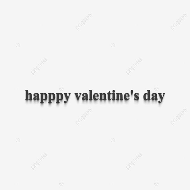 Negro Feliz Día De San Valentín Frase 3d Texto Fuente