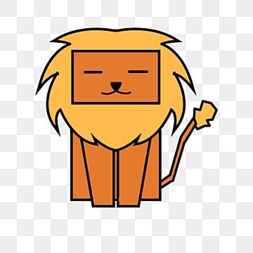 yếu tố hoạt hình sư tử vàng, Nguyên Tố, Động Vật, Hoạt Hình png và psd
