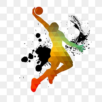 Creative color basketball players, Sports, Bodybuilding, Creative PNG and PSD