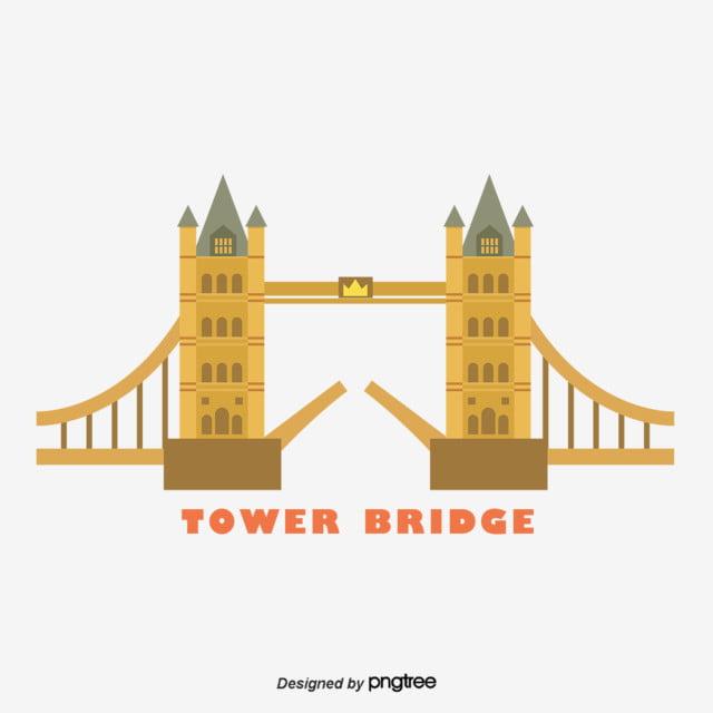 Vector Elements Of Tower Bridge In London Uk Bridge Clipart Geometric Suspension Bridge Png Transparent Clipart Image And Psd File For Free Download