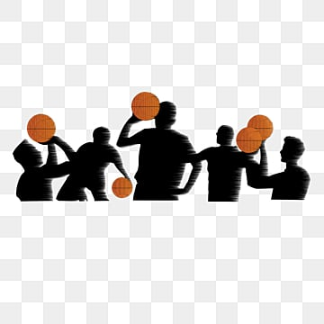 creative silhouette of basketball players, Element, Creative, Silhouette PNG and PSD