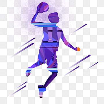 gradual basketball player shooting silhouette, Element, Creative, Silhouette PNG and PSD