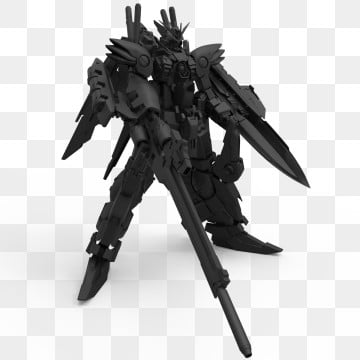 3d Rendering Of A Mech Standing On A Isolated Background