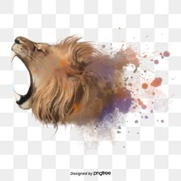 Sư tử gầm Avatar phần tử bắn tung toé, Nguyên Tố, Gầm Gừ, Bắn Tung Toé png và psd