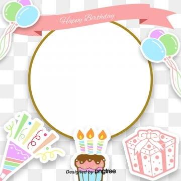 Cartoon Birthday Card Frame, Cartoon, Balloon, Salute PNG and PSD