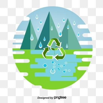 Simple Water Cycle Environmental Protection Elements, Healthy, Element, Environmental Protection PNG and PSD
