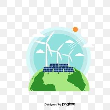 Green Life and Environmental Protection Elements of Wind Solar Power Generation, Protect, Element, Solar Energy PNG and PSD