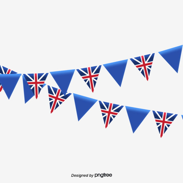 9725ec130bba Cartoon British Flag Decoration Material