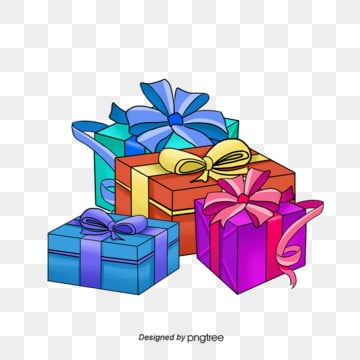 Hand-painted illustrations of birthday gift boxes, Cartoon Gift, Celebrating, Colored Gift PNG and PSD