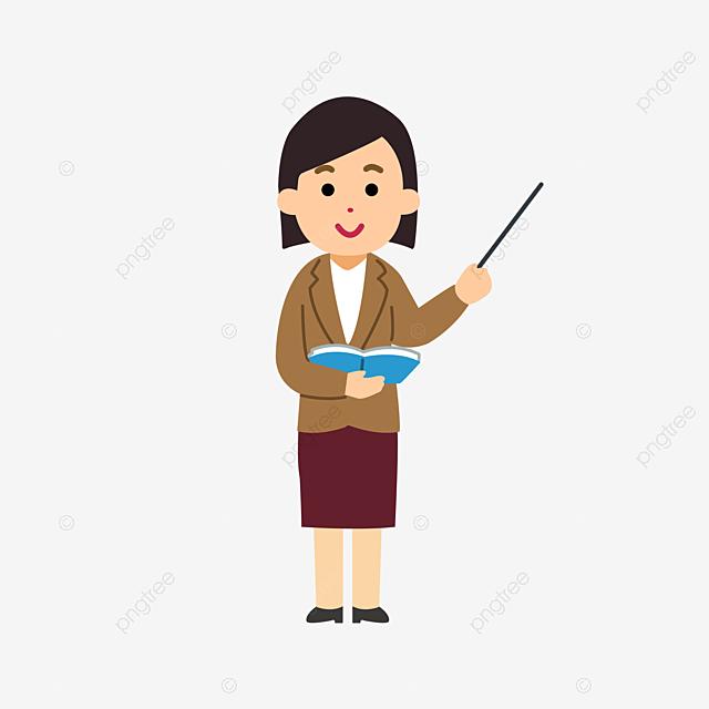 Gambar Kartun Guru Guru Wanita Kartun Guru Wanita Tangan Dicat Png Dan Psd Untuk Muat Turun Percuma