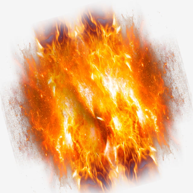 Flame burning. Fire ball png clip