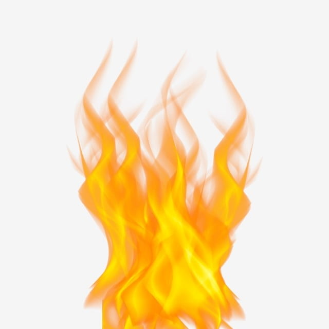 Flame burning. Fire hot clip art