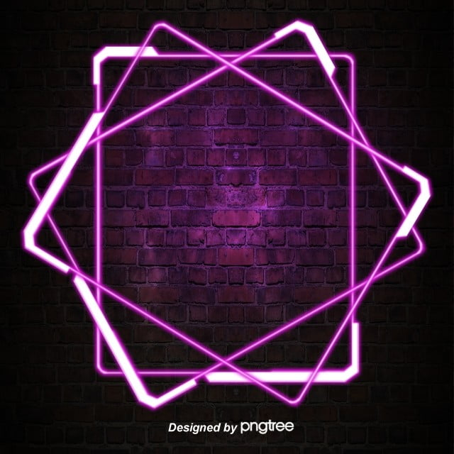 Purple Simple Border Luminous Neon Light Special Effect Decoration