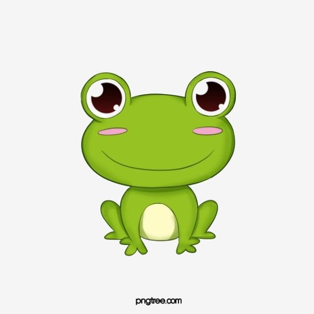 Lindo Sapo Verde Dos Desenhos Animados Animal Ilustração