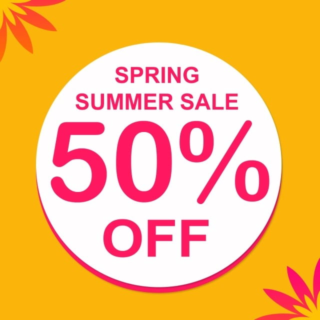 Spring Summer Sale Banner, Banner, Graphic PNG and PSD