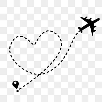 Airplane heart. Clipart images png format