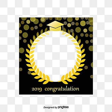 golden wheat graduation photo frame, Luxurious, School, Graduation PNG and PSD