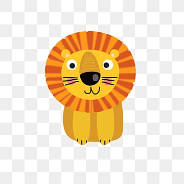 yellow cute cartoon animal lion, Animal, Lovely, Forest PNG and PSD