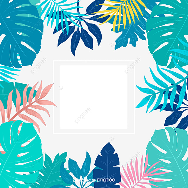 Leaf Edge Of Tropical Plants In Summer, Element, Summer