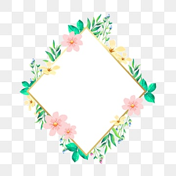 watercolor pink flower border, Spring, Watercolor, Pink PNG and PSD
