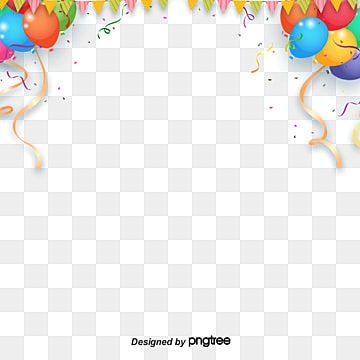 coloured floating balloon with coloured flag decorative border, Ribbon, Element, Coloured Ribbon PNG and PSD