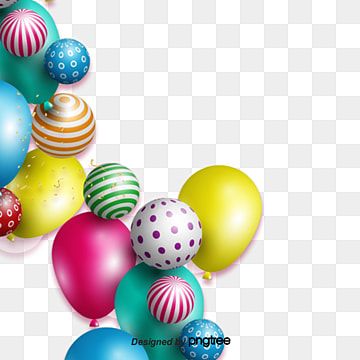 Stereo color floating balloon rim, Element, Color, Illustration PNG and PSD
