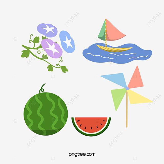 Elegant Japanese Summer Horn Watermelon Sailing Boat Hand