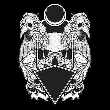 black and white hand drawn skull, Tshirtdesign, Clothingline, Clothing PNG and PSD