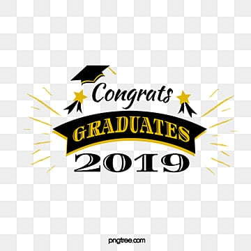 black gold graduation font element illustration Fonts