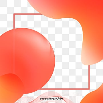 creative fluid gradual coral orange elements living coral,coral, Element, Creative, Orange PNG and PSD