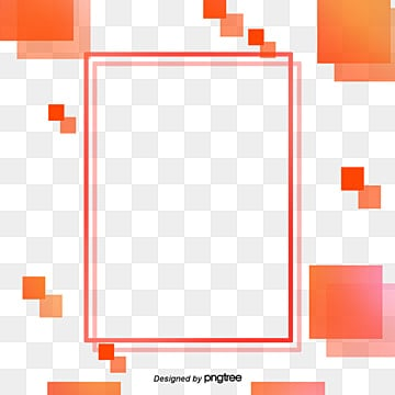 Creative Gradual Coral Orange Border Elements living coral,coral, Geometric, Creative, Abstract PNG and PSD
