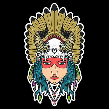 native girl, Illustration, Art, Artwork PNG and PSD