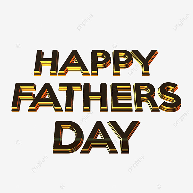 3d Happy Fathers Day Art Font For Free Download