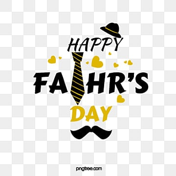black and golden fathers day art character element illustration, Hat, Heart, Fathers Day PNG and PSD