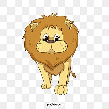 cartoon hand painted brown lion, Animal, Animal Illustration, Cartoon PNG Image and Clipart