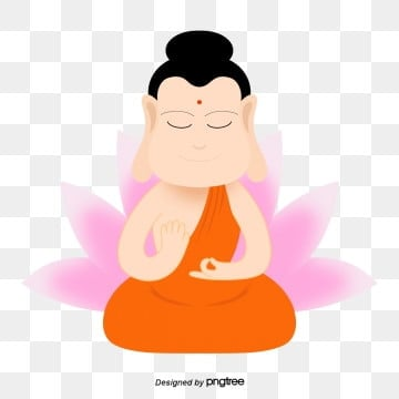 Cute Cartoon Buddha on Buddhas Birthday, Buddha, Cartoon, Lovely PNG and PSD