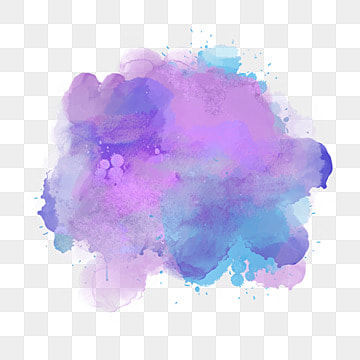 purple watercolor splash, Element, Spatter, Watercolor PNG and PSD