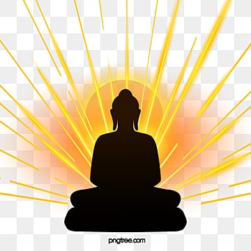 silhouette of buddha sitting in golden light, Buddhas Birthday, Buddha, Body Image PNG and PSD