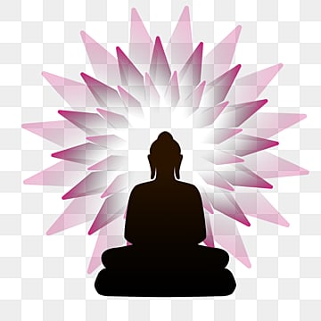 Silhouette of Buddha sitting in lotus flower, Buddhas Birthday, Buddha, Body Image PNG and PSD